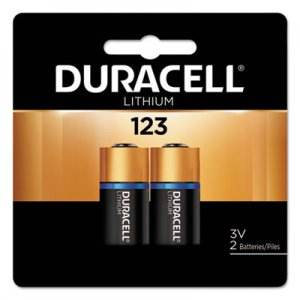 Duracell Ultra High-Power Lithium Battery, 123, 3V, 2/Pack DURDL123AB2BPK DL123AB2PK