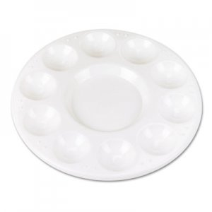 Chenille Kraft Round Plastic Paint Trays for Classroom, White, 10/Pack CKC5924 5924