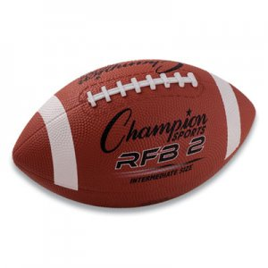 Champion Sports Rubber Sports Ball, For Football, Intermediate Size, Brown CSIRFB2 RFB2