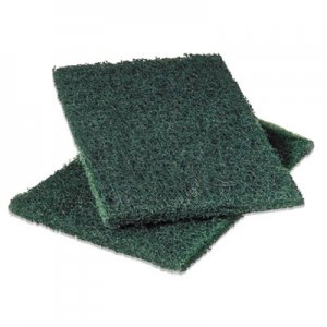 Scotch-Brite PROFESSIONAL Commercial Heavy-Duty Scouring Pad, Green, 6 x 9, 12/Pack MMM86 86