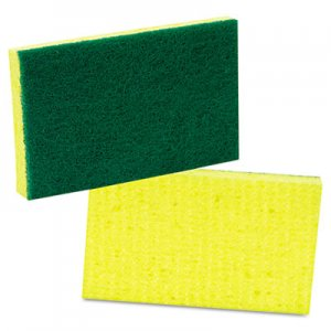 Scotch-Brite PROFESSIONAL Medium-Duty Scrubbing Sponge, 3 1/2 x 6 1/4, Yellow/Green, 20/Carton MMM74 74