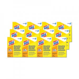S.O.S Steel Wool Soap Pad, 15 Pads/Box, 12 Boxes/Carton CLO88320CT 88320