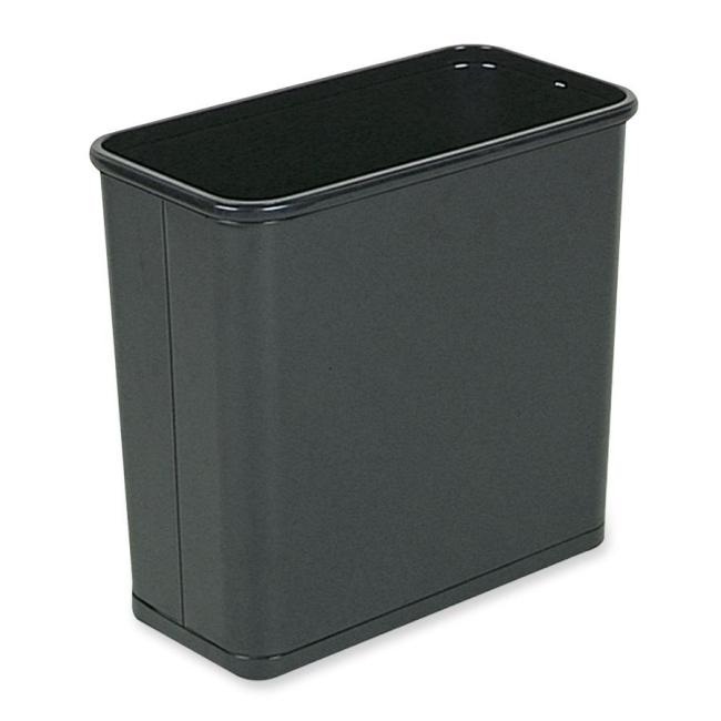 United Receptacle Fire-Safe Rectangle Wastebasket WB30RBK RCPWB30RBK