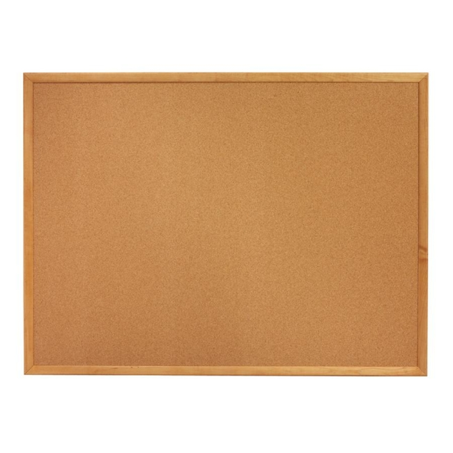 ACCO Oak Frame Cork Bulletin Board 303 QRT303