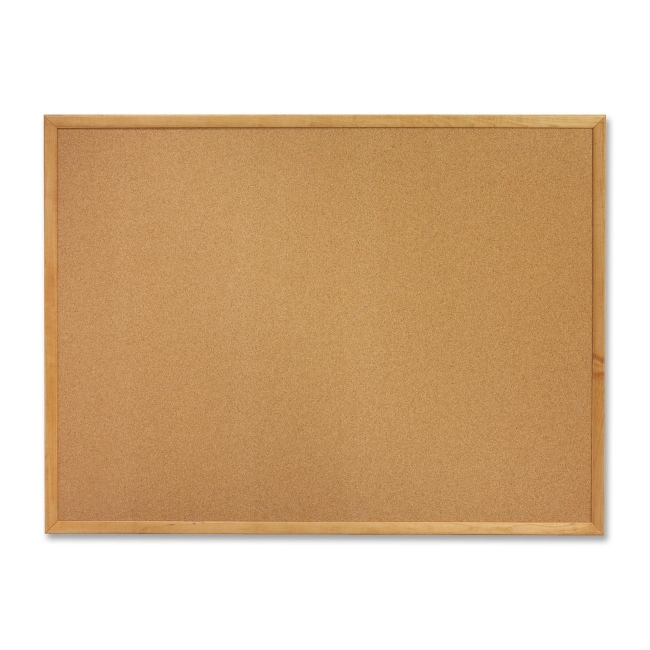 ACCO Oak Frame Bulletin Board with Brackets 305 QRT305