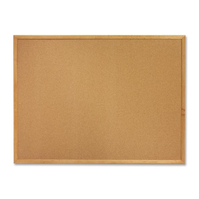 ACCO Oak Frame Bulletin Board with Brackets 307 QRT307