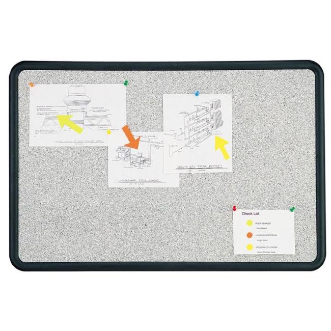 ACCO Contour Contoured Granite Tackboard 699375 QRT699375