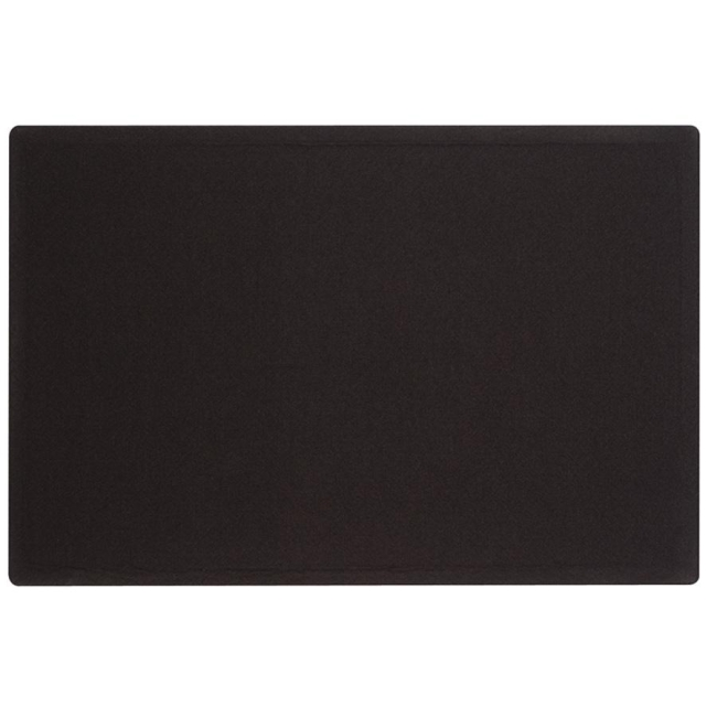 ACCO Oval Office Frameless Fabric Tack Bulletin Board 7683BK QRT7683BK