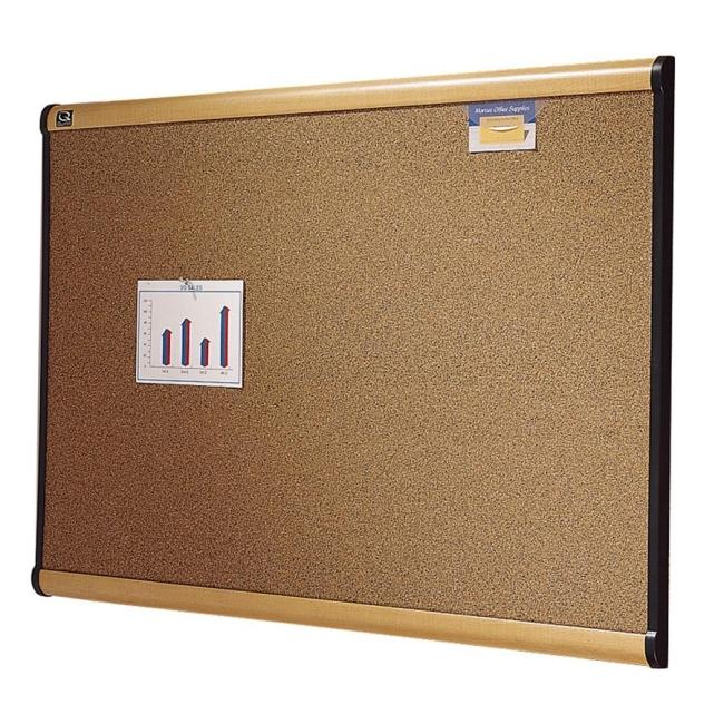 ACCO Prestige Cork Bulletin Board B244MA QRTB244MA