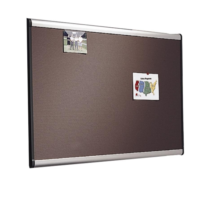 ACCO Prestige Plus Gray Diamond Mesh Bulletin Board B447A QRTB447A