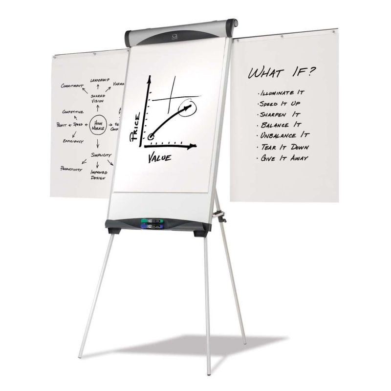 ACCO Tripod Easel Stand with Magnetic Dry-Erase Board EU500E QRTEU500E