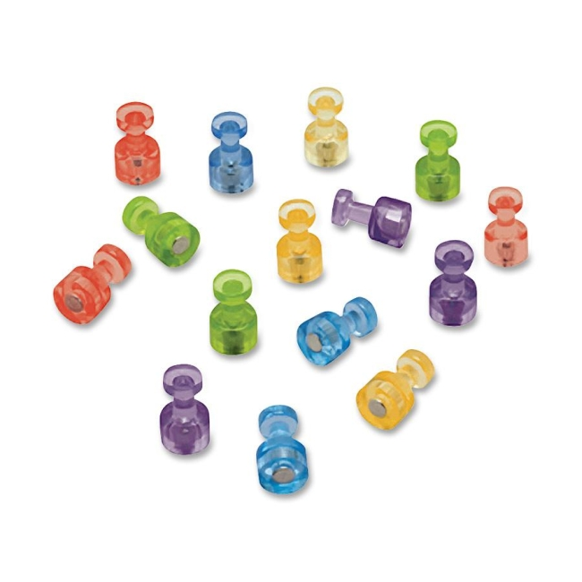 ACCO Assorted Color Magnetic Push Pins MPPC QRTMPPC