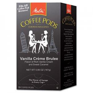 Melitta Coffee Pods, Vanilla Creme Brulee, 18 Pods/Box MLA75416 75416