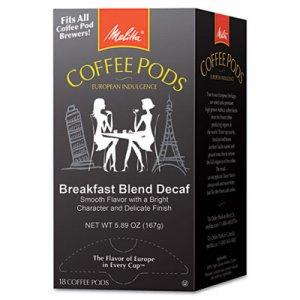 Melitta Coffee Pods, Breakfast Blend Decaf, 18 Pods/Box MLA75413 75413