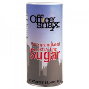Office Snax Reclosable Canister of Sugar, 20 oz OFX00019 00019