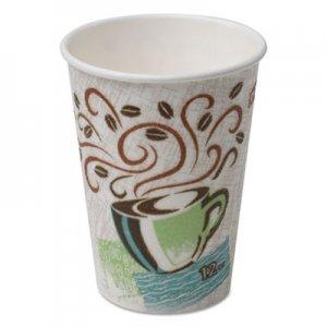 Dixie Hot Cups, Paper, 12oz, Coffee Dreams Design, 500/Carton DXE5342DX 5342DX