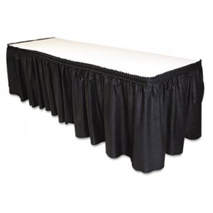 "Tablemate Table Set Linen-Like Table Skirting, 29"" x 14ft, Black TBLLS2914BK LS2914-BK"