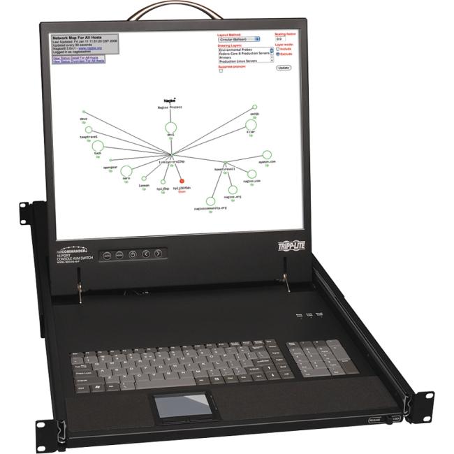 "Tripp Lite NetCommander 19"" Rackmount LCD with KVM Switch B070-016-19-IP"