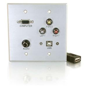 C2G Audio/Video Faceplate 40545