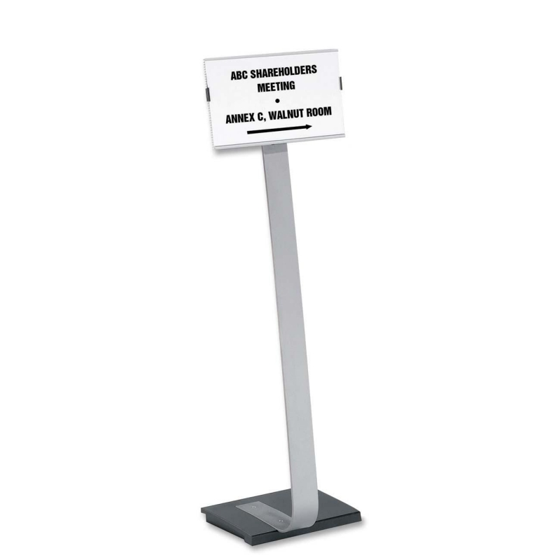 Durable Info Sign Duo Floor Sign Stand 4814-23 DBL481423