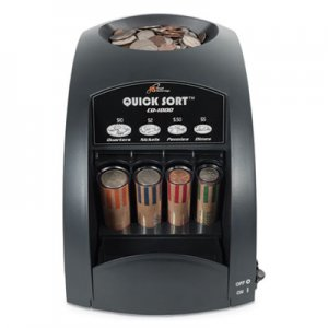 Royal Sovereign Fast Sort CO-1000 One-Row Coin Sorter, Pennies Through Quarters RSICO1000 CO-1000