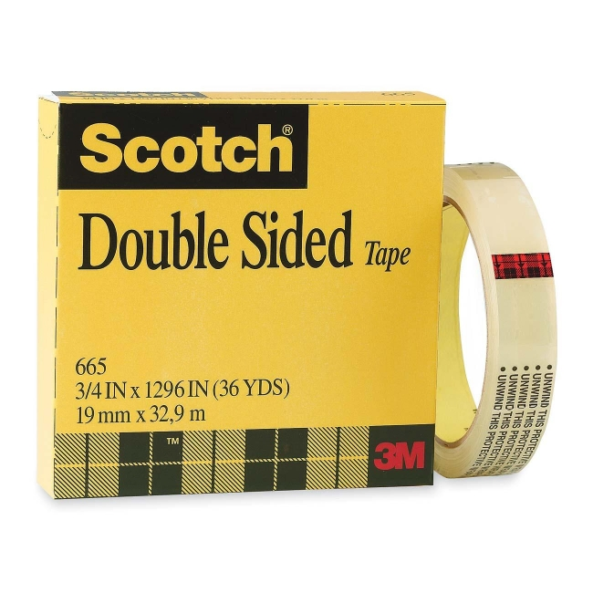 3M Double-Sided Tape 665-2P12-36 MMM6652P1236
