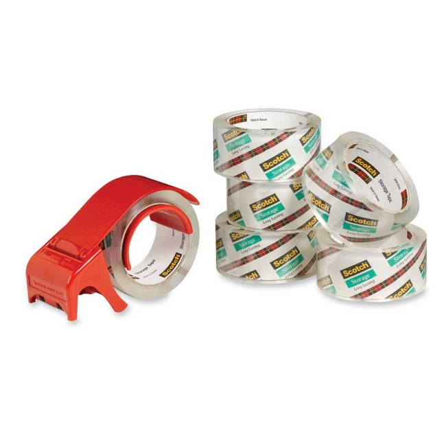 3M Scotch Mailing and Storage Tape with Dispenser 36506DP3 MMM36506DP3