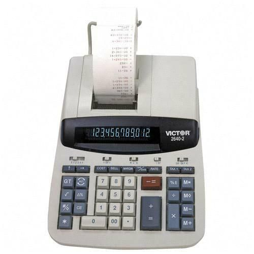 Victor Technology Commercial Desktop Printing Calculator 2640-2 VCT26402