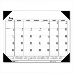 House of Doolittle Recycled Economy 14-Month Academic Desk Pad Calendar, 22 x 17, 2018-2019 HOD12502 125-02