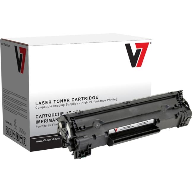 V7 Black Toner Cartridge For HP LaserJet P1002, P1003, P1004, P1005, P1006, P100 V735A