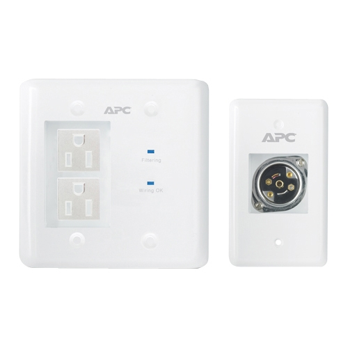 APC AV In-Wall Power Filter and Connection Kit INWALLKIT-WHT