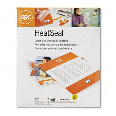 Swingline HeatSeal Laminating Pouches, 3 mil, 9 x 11-1/2, 50/Box 3745690 GBC3745690