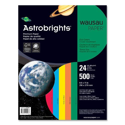 Astrobrights Astro Astrobrights Eco Friendly Colored Paper 22226