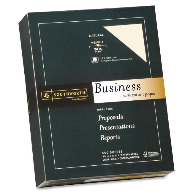 Southworth Company, Agawam, MA 24lb 25% Cotton Business Paper 404NC