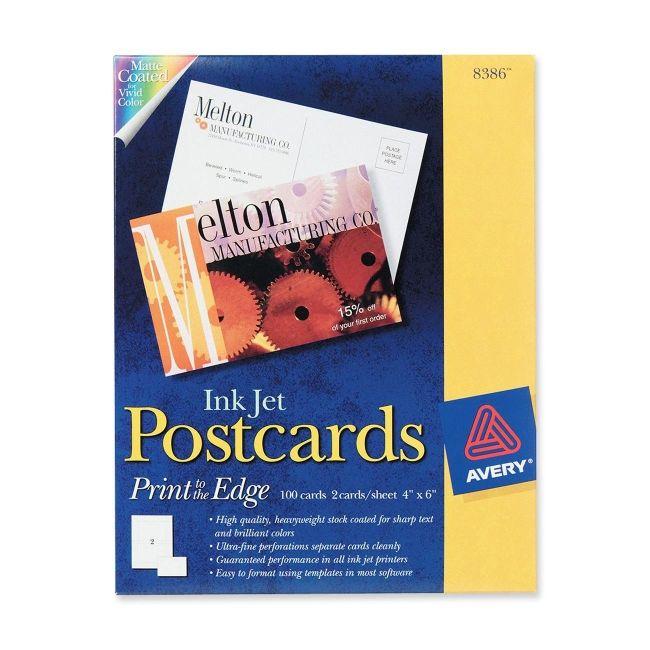 Avery Print-to-the-Edge Postcard 8386