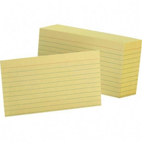 TOPS Colored Ruled Index Card 7321CAN