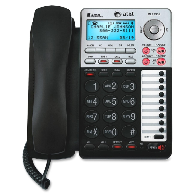 VTech AT&T Basic Phone with Answering Machine ML17939