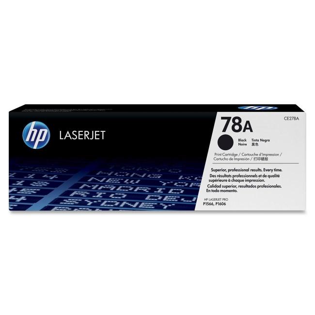 HP (CE2) Black Original LaserJet Toner Cartridge CE278A 78A