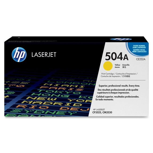HP Yellow Original LaserJet Toner Cartridge for US Government CE252AG 504A
