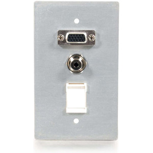 C2G 1 Gang 3 Socket Audio/Video Faceplate 40572