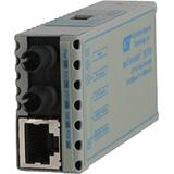 Omnitron miConverter 10/100 Plus ST Multimode 5km US AC Powered 1120-0-1 1120-0-x