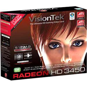 Visiontek Radeon HD 3450 Graphics Card 900321