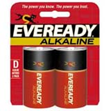 Eveready Size D Gold Alkaline General Purpose Battery A95BP-2