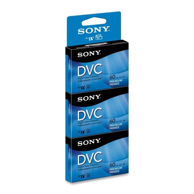 Sony Premium MiniDV Videocassette DVM60PRR3 DVM60PRR
