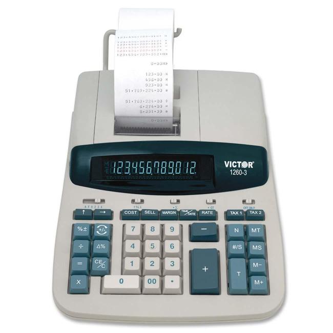 Victor Technology Desktop Print/Display Calculator 1260-3 VCT12603