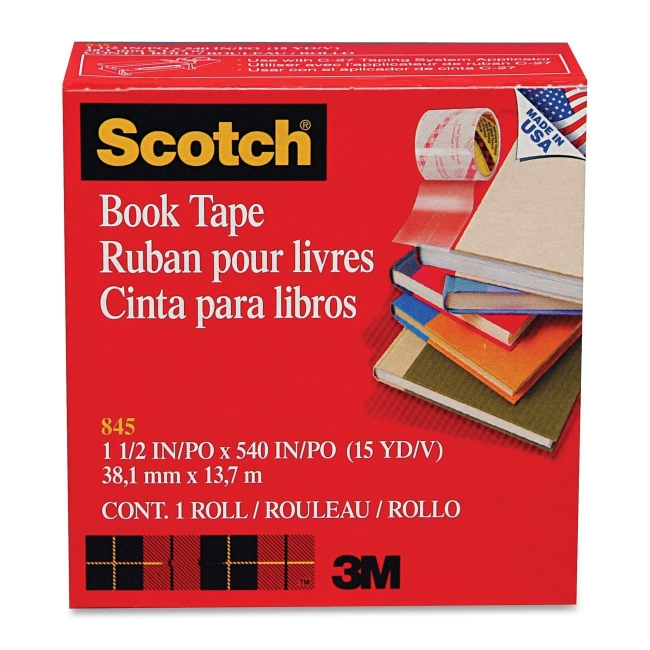 3M Transparent Tape 845-1-1/2 MMM845112 845112