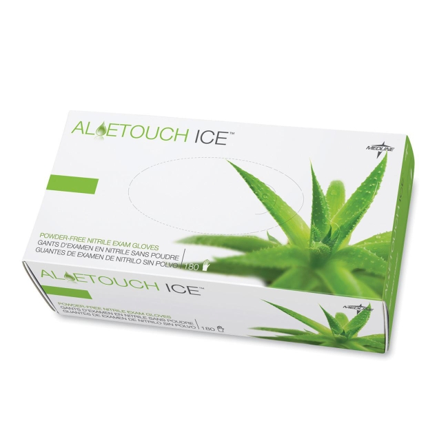 Medline Aloetouch Ice Examination Gloves MDS195285 MIIMDS195285