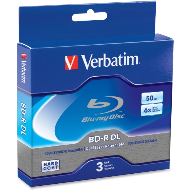Verbatim Blu-ray Dual Layer BD-R DL 6x Disc 97237