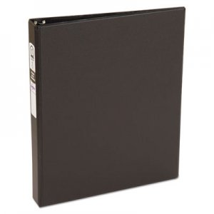 "Avery Economy Non-View Binder with Round Rings, 3 Rings, 1"" Capacity, 11 x 8.5, Black AVE03301 03301"