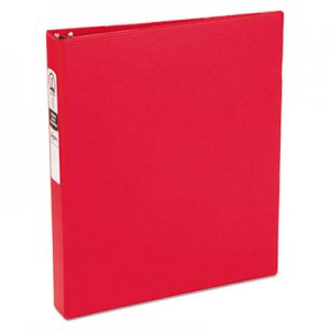 "Avery Economy Non-View Binder with Round Rings, 3 Rings, 1"" Capacity, 11 x 8.5, Red AVE03310 03310"